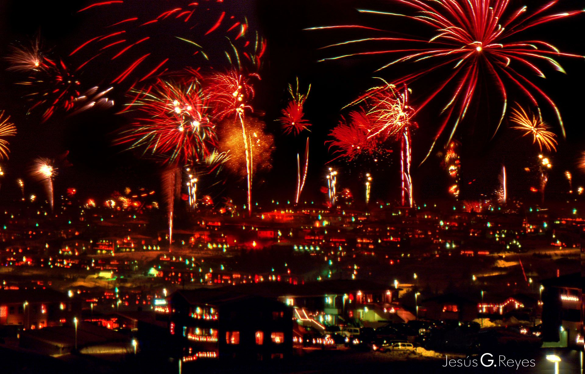 New Year Eve. Reikiavik. Island